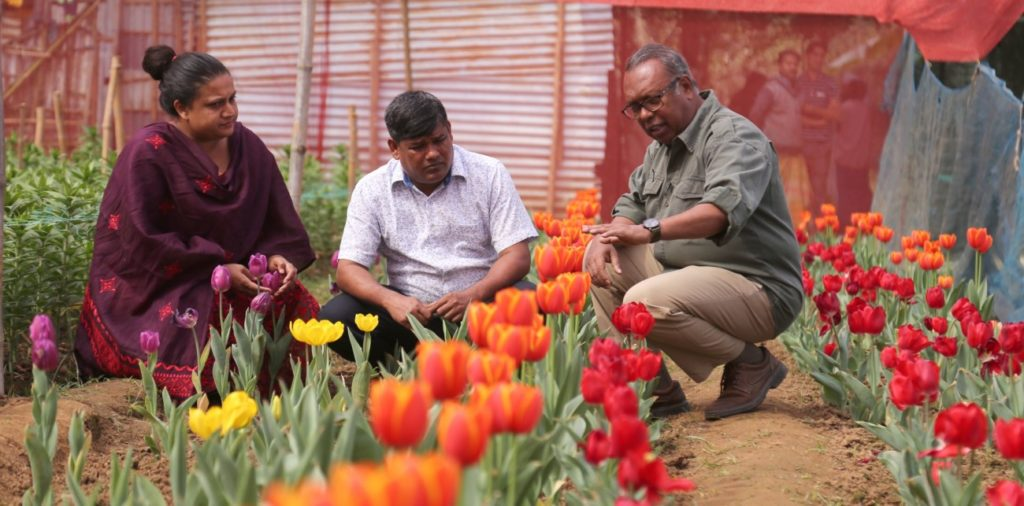 Delowar Hossain and Shelly Apa
